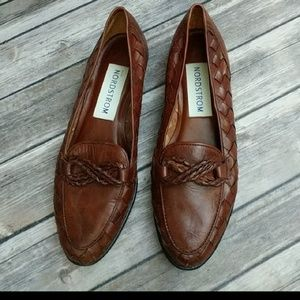 Nordstrom brown leather loafers